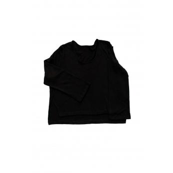 Flared sweater, black heavy knit