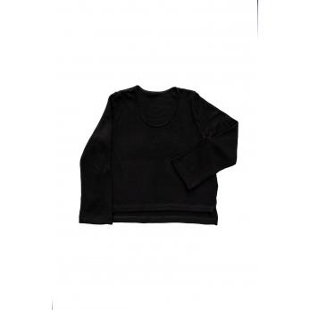 Flared sweater, black heavy jersey