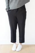 Pantalon à poches, flanelle noire
