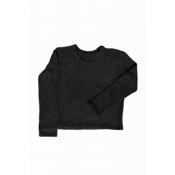 Unisex sweater, dark grey heavy jersey