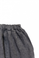 Short mixte, lin épais gris