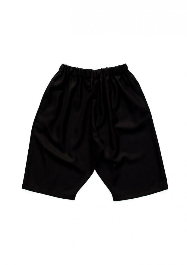 Short mixte, flanelle noire