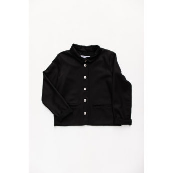 Woman jacket, black flannel