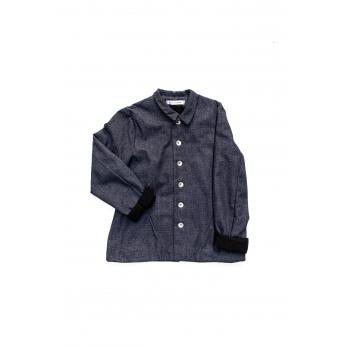 Veste tailleur, jean recyclé bleu