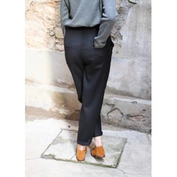 Pantalon Femme, flanelle noire