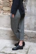 Pantalon classique, drap chevron