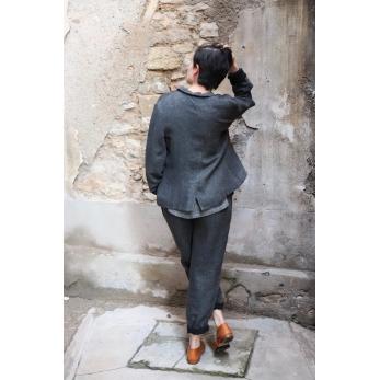 Tailor jacket, grey heavy linen