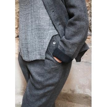 Open top, grey linen