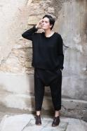 Unisex sweater, black heavy jersey