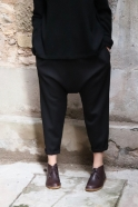 Saroual trousers, black flannel