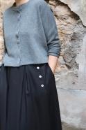 Jupe à plis, flanelle noire