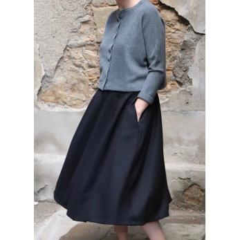 Long skirt, black flannel