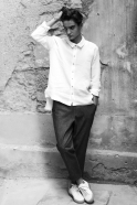 Unisex shirt, white linen