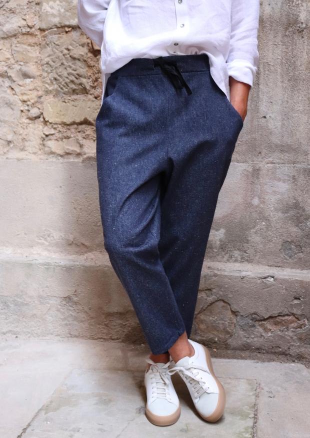Pantalon à poches pour homme, jean bleu