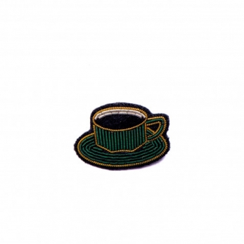 "Brooch ""Cup of coffee"""