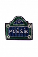 "Brooch ""Poésie street sign"""