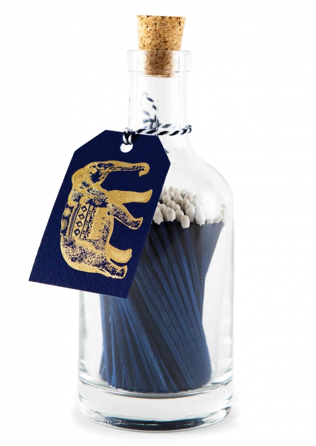 Match bottle, blue