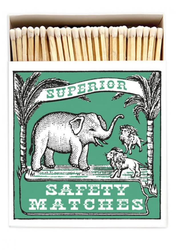 "Square matchbox ""Elephant"""