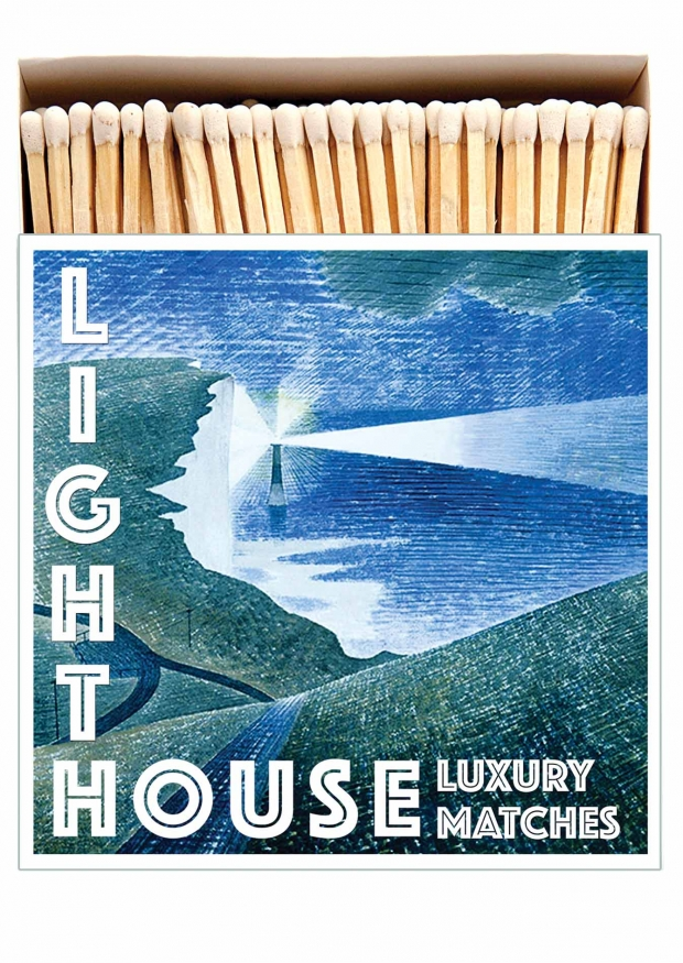 "Square matchbox ""Light house"""
