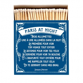 "Square matchbox ""Paris at night"""