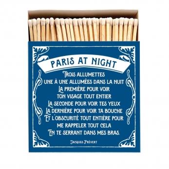 """Square matchbox """"Paris at night"""""""