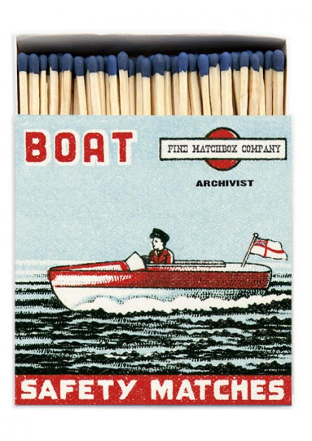 """Square matchbox """"Boat"""""""