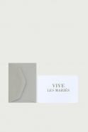 """Mini carte postale + enveloppe """"Vive les mariés"""""""