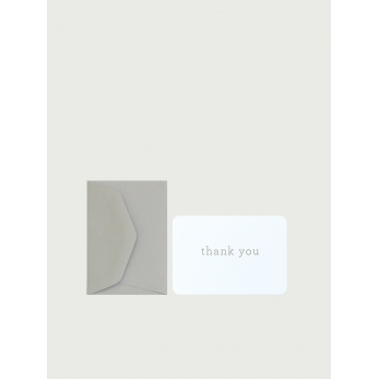 "Mini carte postale + enveloppe ""Thank you"""
