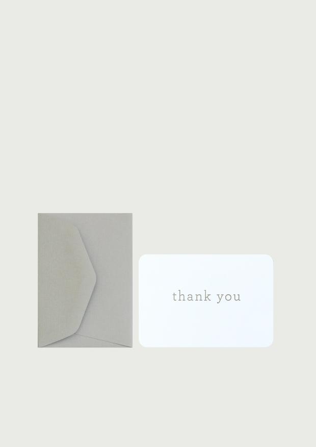 """Mini card + enveloppe """"Thank you"""""""