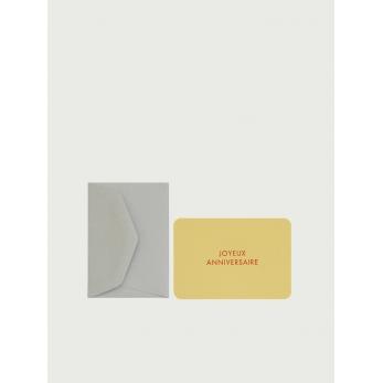 "Mini carte postale + enveloppe ""Joyeux anniversaire"""