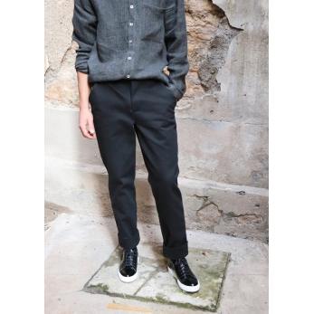 Man trousers, black denim