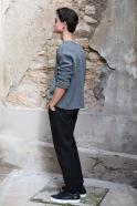Pull mixte pour homme, jersey épais gris clair