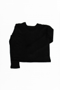 Unisex sweater, black heavy jersey
