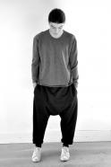 Pull mixte, maille épaisse grise