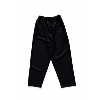 Long trousers, black flannel