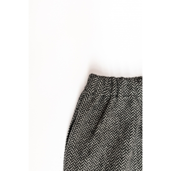Long trousers, herringbone wool drap