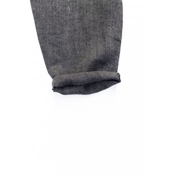 Long trousers, grey heavy linen