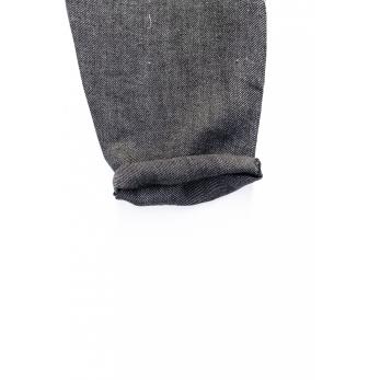 Pantalon long, lin épais gris