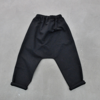 Saroual trousers, black denim