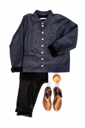 Saroual trousers, black flanelle