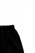 Short mixte pour homme, flanelle noire