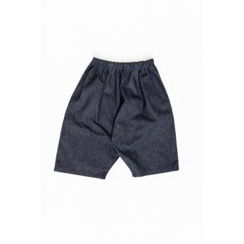 Short mixte pour homme, jean recyclé bleu