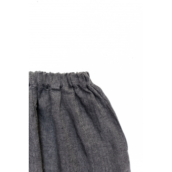 Unisex short, grey heavy linen