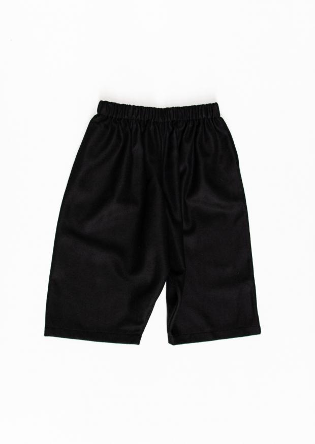 Short mixte, drap noir