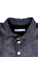 Man jacket, blue recycled denim