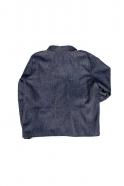 Veste homme, jean recyclé bleu