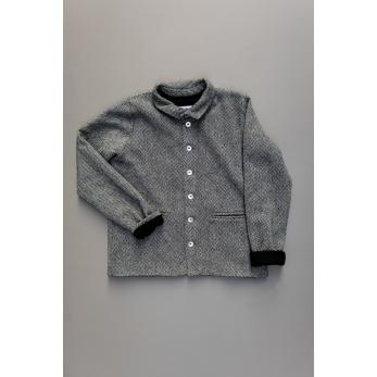 Man jacket, herringbone wool drap