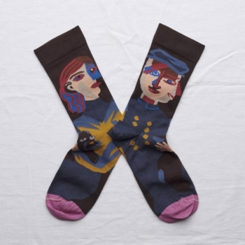 """Head"" socks, dark brown"