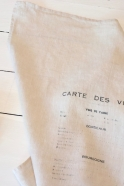 "Dish towel ""Carte des vins"" natural"