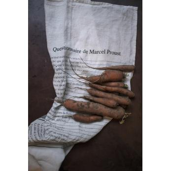 """Dish towel """"Questionnaire de Marcel Proust"""" white"""